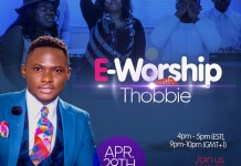 E-Worship with Thobbie - an Online Worship Experience