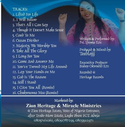 Pastor Ifeoma Eze Album Lifted For Life