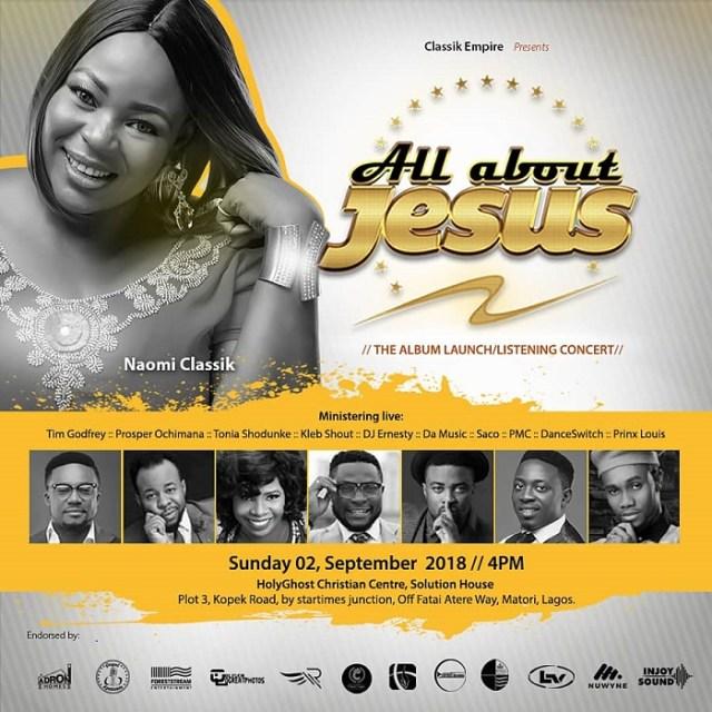 Naomi Classik 'All About Jesus' Album Launch Concert Ft. Tim Godfrey