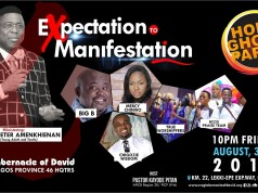 RCCG TOD Presents Holy Ghost Party August 2018