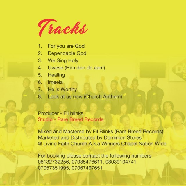 LFC Choir Dawaki 'New Dawn' Debut Album TrackListing