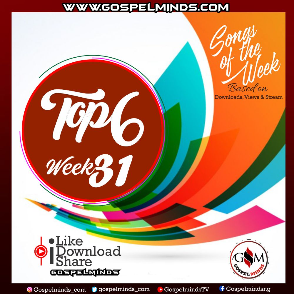 Top 6 Gospel Songs of The Week | WK-31 August 2019 - Mp3 Download