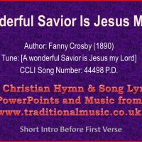 A Wonderful Savior song lyrics