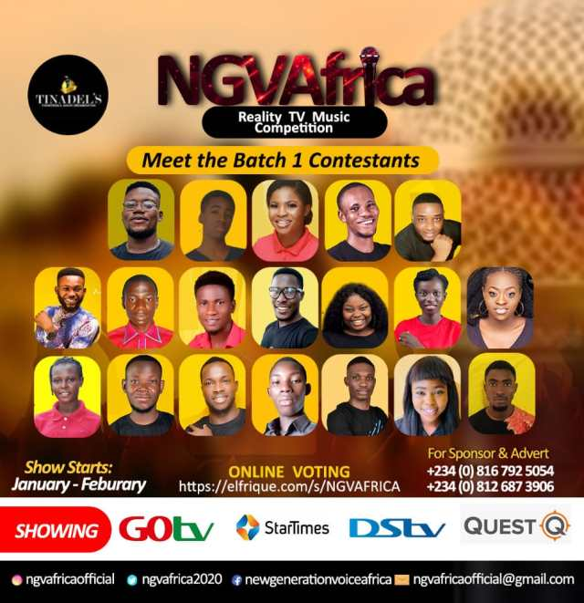 NGVAFRICA official contestants list is out now (Read to know more)