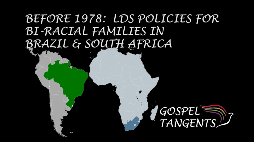 Dr. Matt Harris talks about how LDS Church dealt with racial issues in Brazil & South Africa before the 1978 revelation.