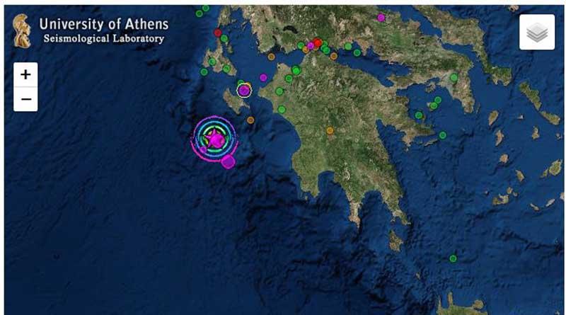 Τρία εκατοστά νοτιοδυτικά μετακινήθηκε η Ζάκυνθος από τον σεισμό