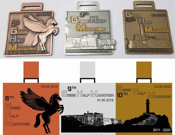 Πρωτοποριακό και συνάμα συλλεκτικό το μετάλλιο του Πράσινου Ημιμαραθωνίου