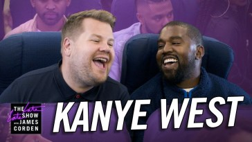 Kanye west and James Corden show