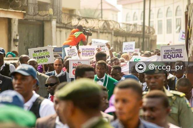 RCCG March with Adeboye