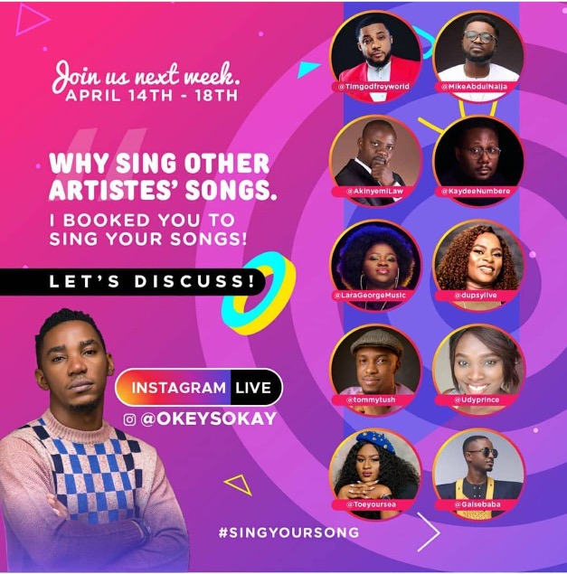 Okey Sokay to host WHY SING OTHER ARTISTES' SONGS? Discussions