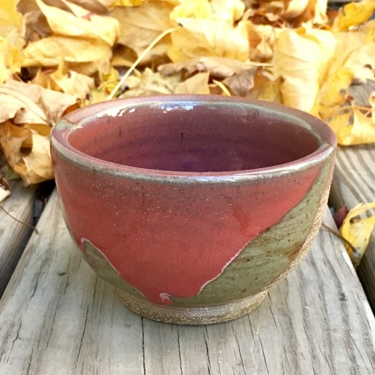Bowl (Vegas red over raw stoneware) *n/a