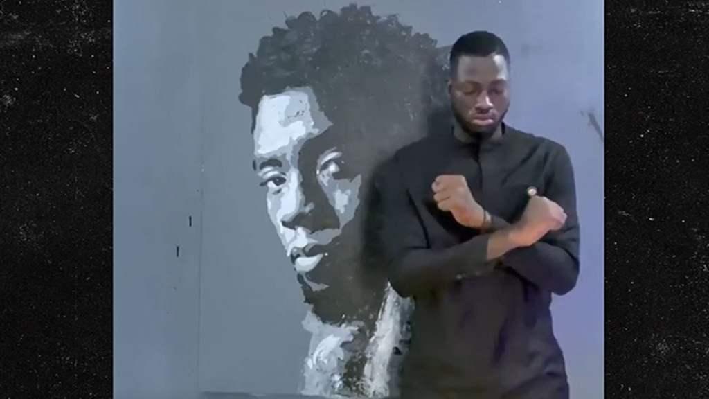 Artist Creates Amazing Rose-Painted Mural of Chadwick Boseman