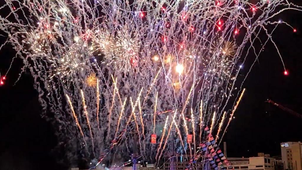 Tampa Pirate Ship Lights Up with Fireworks, Kicks Off Super Bowl Week