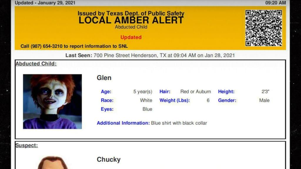 'Child's Play' Chucky and Glen Ray Appear in False Amber Alert in Texas