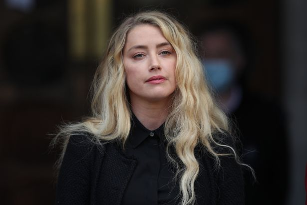 Amber Heard, pictured, outside the High Court in London