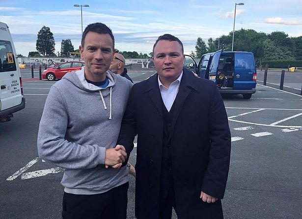 Welsh appeared alongside Ewan McGregor in Trainspotting