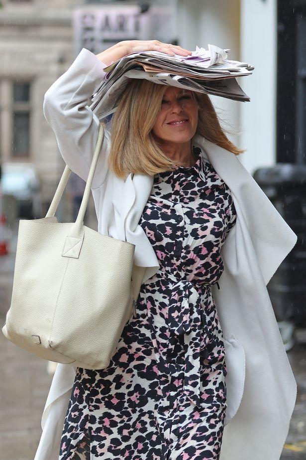Kate Garraway on her way to work