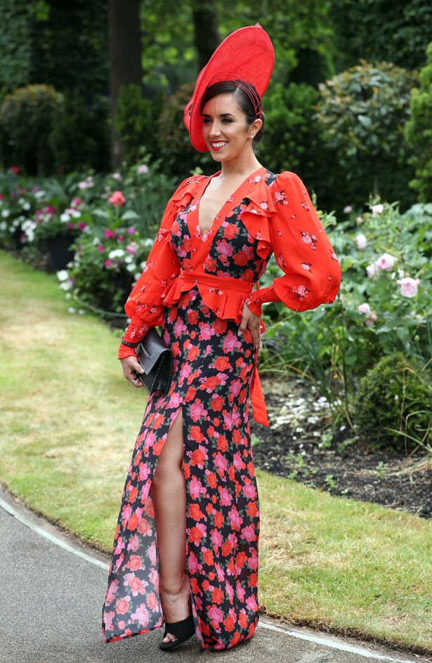 Strictly Come Dancing star Janette opted for a striking red floral number