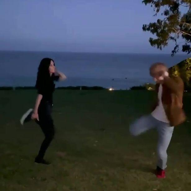 Courteney Cox Ed Sheeran Friends dance