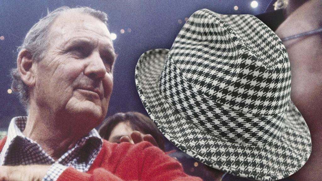 Legendary 'Bama Coach 'Bear' Bryant's Worn Houndstooth Hat Up For Auction
