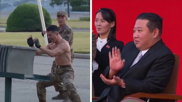 Kim Jong-Un Cheers On As Shirtless Soldiers Smash Concrete, Break Glass On Each Other