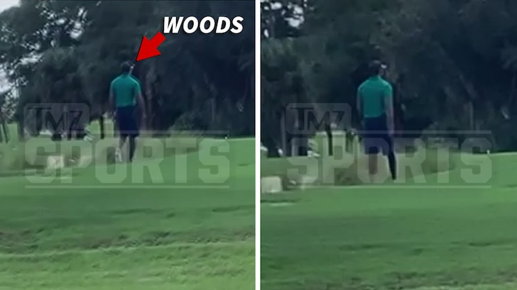 Tiger Woods Spotted Walking On Golf Course Without Limp