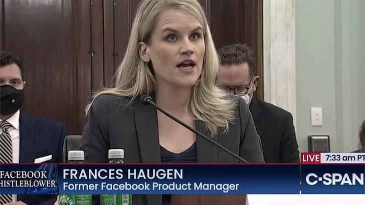 Facebook Whistleblower Frances Haugen Compares FB To Tobacco, Opioids