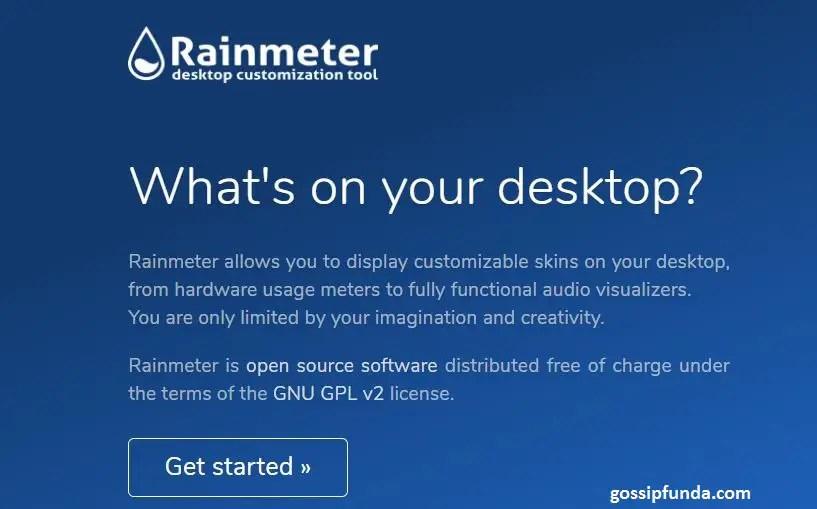 Rainmeter System Monitoring Skins