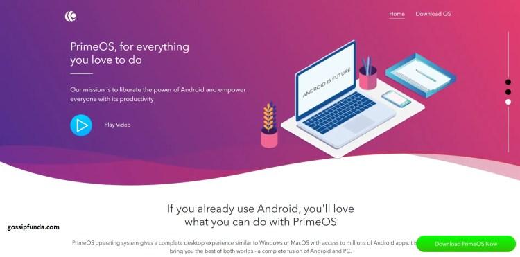 PrimeOS website