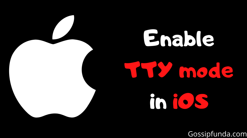 Enable TTY mode in iOS