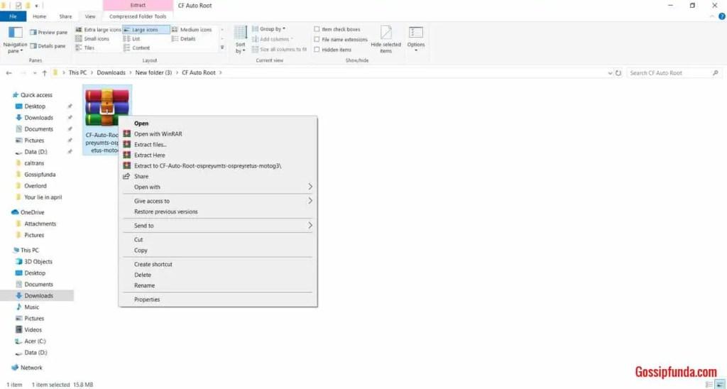 How to root Google Pixel: Extracting ZIP file