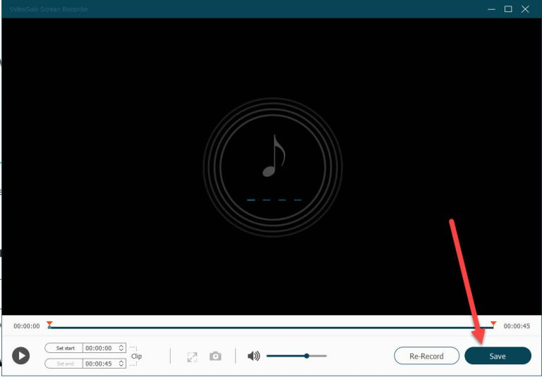 finally save the recoded audio of windows 10