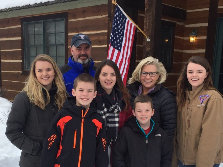 Liz Cheney and her family. Source: @Twitter