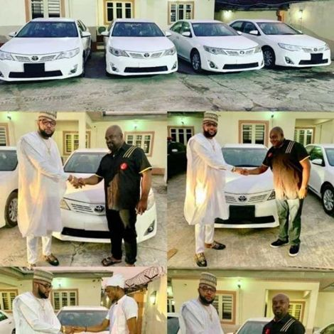 Nigerias Millionaire Businessman Gifts His Workers Cars On Birthday
