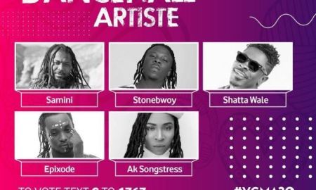 VGMA 2019 Reggae Dancehall Artiste of the YearNominees