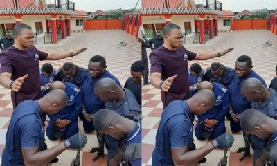 Police Officers Run To Bishop Obinim For Protection