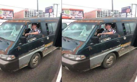 White Man Driving Trotro