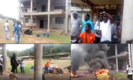 NDC aSHANTI REGIONAL Office On Fire