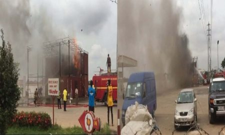 Top Oil Filling Station In Tema Is On Fire