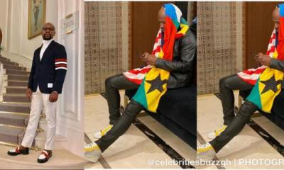 Mayweather confirms visit to Ghana with a Scarf of USA/Ghana colors worth GHC63,106 3