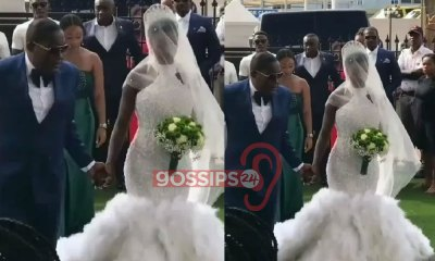 Osei Kwame Despite Daughter Marries Her Heartthrob In A Classic Wedding Ceremony (Video) 13