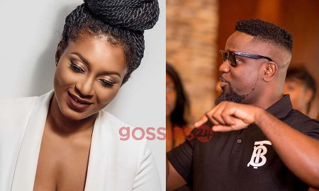 Sarkodie and Tracy bleaching