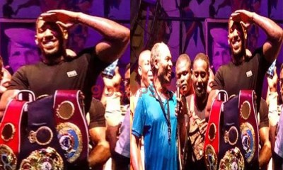 Anthony Joshua, Anthony Joshua visits the Afrika Shrine