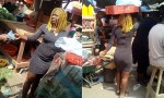 Female university student sells pure water