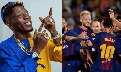 See Shatta Wale's reaction after Barcelona played his 'Borjor' song in their dressing room (VIDEO) 1