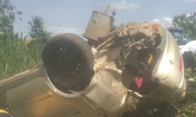 Breaking: Family escaping Accra lockdown to New Edubiase involved in gory accident (Photos) 3
