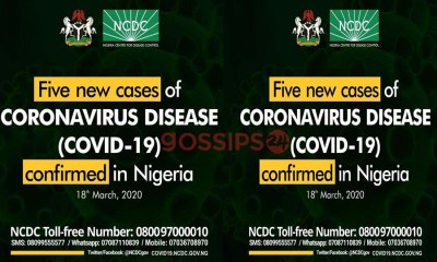 5 new coronavirus cases confirmed in Nigeria