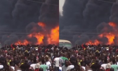 Lagos Explosion: 3 year old girl rescued in rubble collapsed building 1
