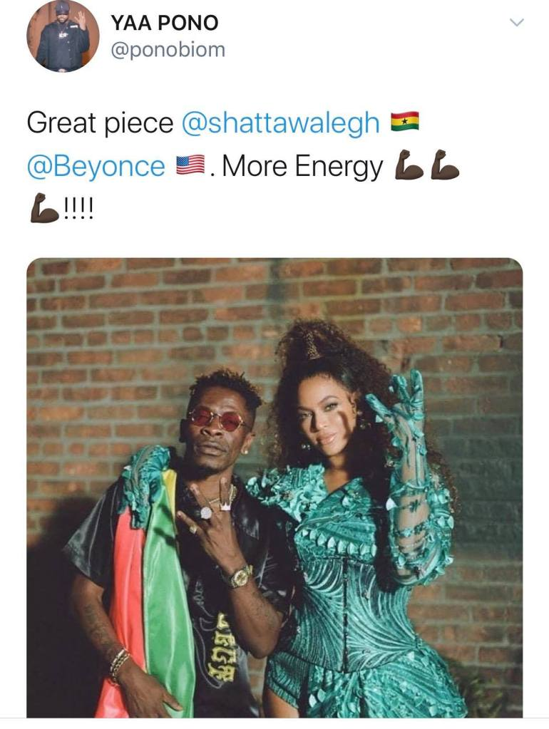 Star-struck Yaa Pono comments on Beyonce's Already music video ft Shatta Wale (screenshot) 1