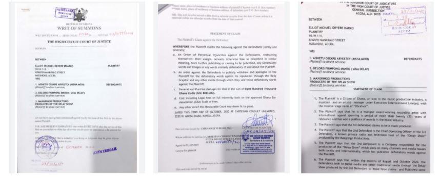 Obrafour finally sues Aisha Modi